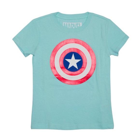 Marvel Captain America Girls' T-Shirt L(10-12)